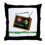 Froggy TV Throw Pillow