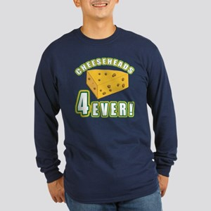 Cheeseheads Forever with Number 4 Long Sleeve Dark