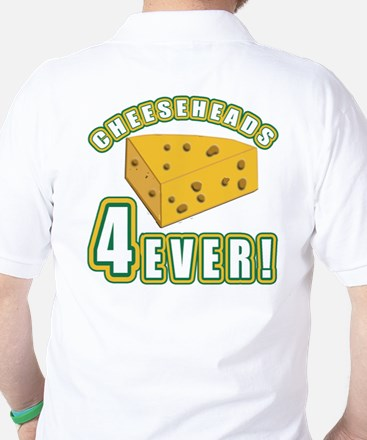 Cheeseheads Forever with Number 4 Golf Shirt