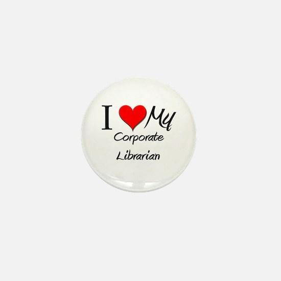 I Heart My Corporate Librarian Mini Button