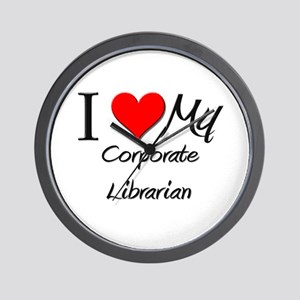 I Heart My Corporate Librarian Wall Clock
