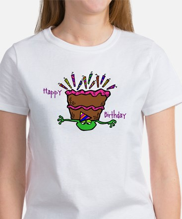 HAPPY BIRTHDAY FROG Women's T-Shirt