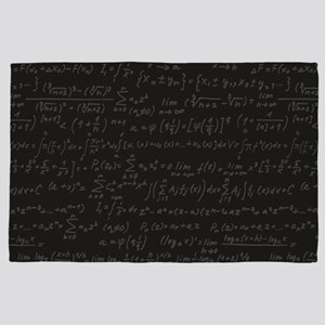 Scientific Formula On Blackboard 4' x 6' Rug