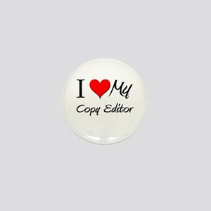 I Heart My Copy Editor Mini Button