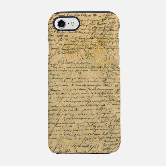 Old Manuscript iPhone 8/7 Tough Case