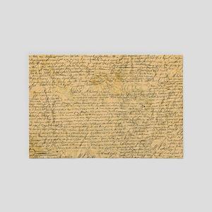 Old Manuscript 4' x 6' Rug