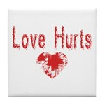 Love Hurts Tile Coaster
