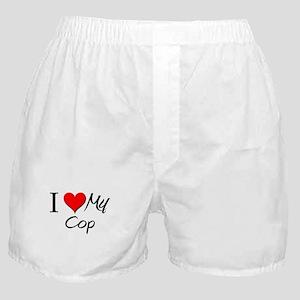 I Heart My Cop Boxer Shorts