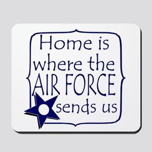 Home is Where the Air Force Sends Us Mousepad