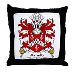 Arnold Family Crest Throw Pillow