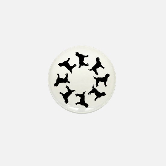 Labradoodle Circle Mini Button