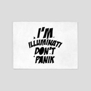 Im Illuminati Don't Panic 5'x7'Area Rug