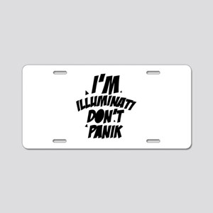 Im Illuminati Don't Pan Aluminum License Plate