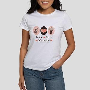 Peace Love Medicine Caduceus Women's T-Shirt