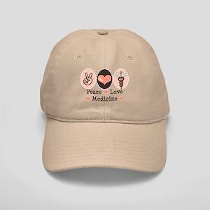 Peace Love Medicine Caduceus Cap