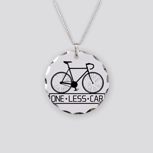 One Less Car Necklace Circle Charm
