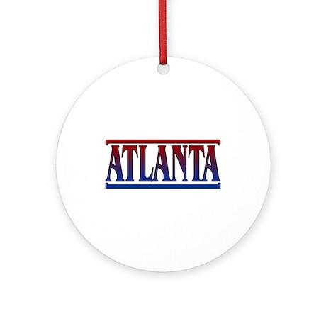 Atlanta Keepsake Round Ornament