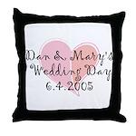 Custom Wedding Day Throw Pillow