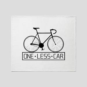 One Less Car Throw Blanket