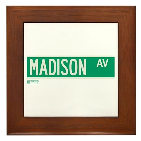 Madison Avenue in NY Framed Tile
