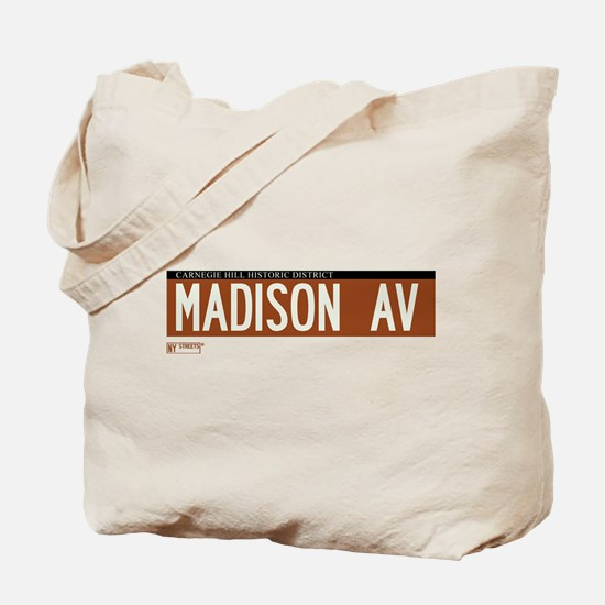 Madison Avenue in NY Tote Bag