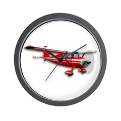 Little Red Airplane Wall Clock