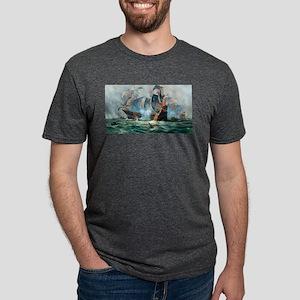 Battle Ships At War Painting T-Shirt