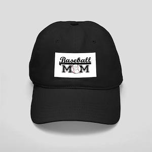 Baseball mom silver Black Cap