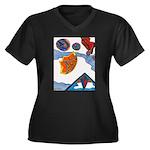 Flight Women's Plus Size V-Neck Dark T-Shirt