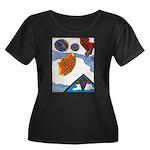 Flight Women's Plus Size Scoop Neck Dark T-Shirt