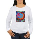 Big Clown (blue) Women's Long Sleeve T-Shirt