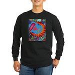 Big Clown (blue) Long Sleeve Dark T-Shirt