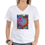 Big Clown (blue) Women's V-Neck T-Shirt