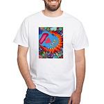 Big Clown (blue) White T-Shirt