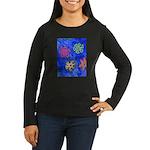 Flakes Women's Long Sleeve Dark T-Shirt