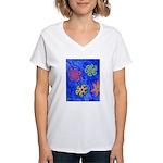 Flakes Women's V-Neck T-Shirt