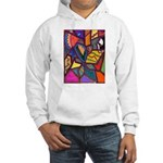 Tie Palm Hooded Sweatshirt