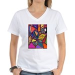 Tie Palm Women's V-Neck T-Shirt