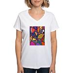 Tie Palm Women's V-Neck T-Shirt