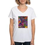 Bee Cow Fish Women's V-Neck T-Shirt