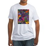 Bee Cow Fish Fitted T-Shirt