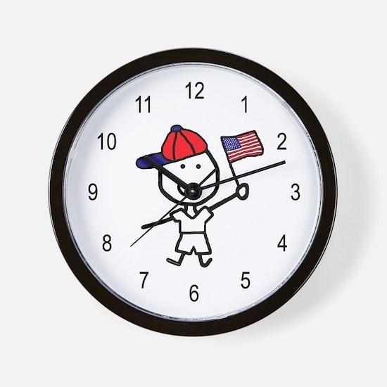 Boy & Flag Wall Clock