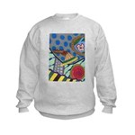Braided Rug Kids Sweatshirt