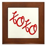 XOXO Framed Tile