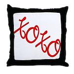 XOXO  Throw Pillow