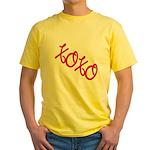 XOXO Yellow T-Shirt