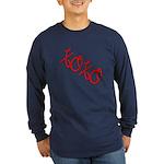 XOXO Long Sleeve Dark T-Shirt
