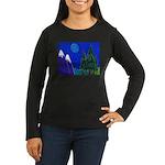 Moon Women's Long Sleeve Dark T-Shirt
