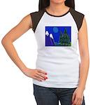 Moon Women's Cap Sleeve T-Shirt