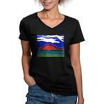 Sunset Women's V-Neck Dark T-Shirt